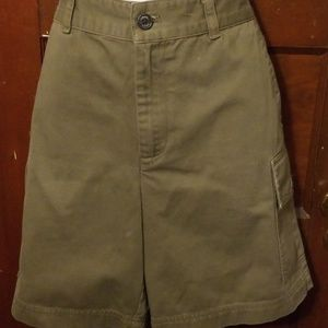 Womens olive colored cargo shorts
